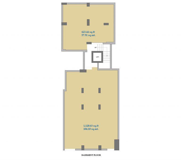 Pune Shop – Basement floor plan