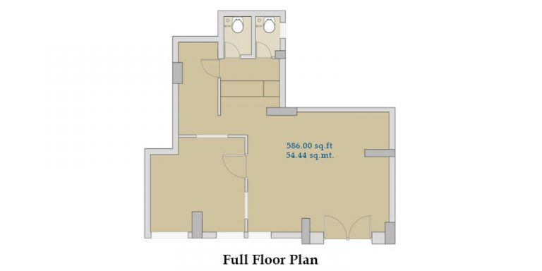 Commercial shop I. C. Colony full floor plan