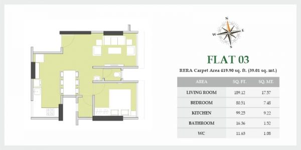 Spacious And Affordable Homes At VKLAL VISHNU PHASE I - Flat 03 - Floor Plans