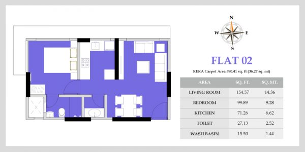 Apartments in Borivali with beautiful view of SGNP - VKLAL HARI Flat 02 - Floor Plans